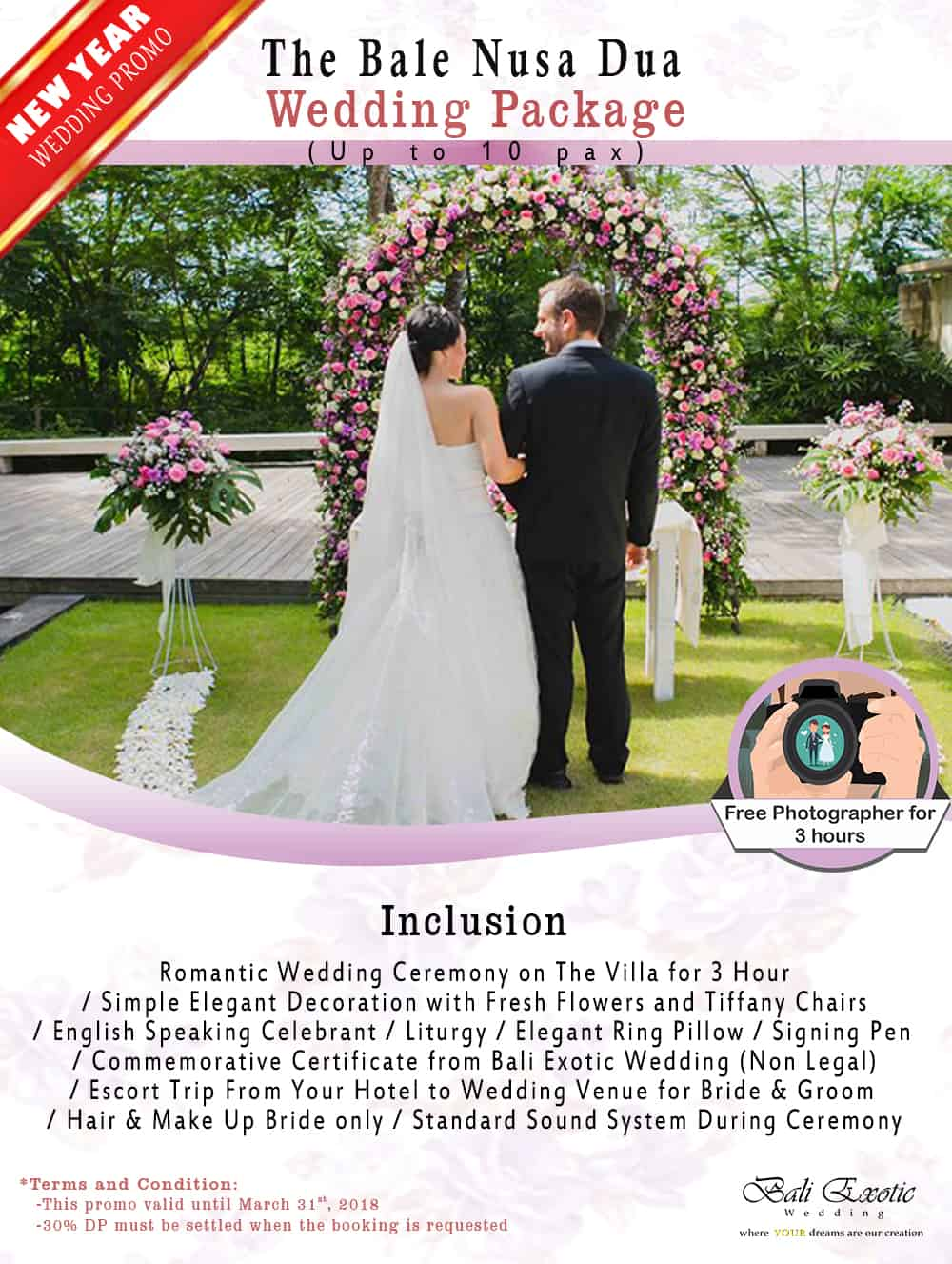 The Bale Nusa Dua Wedding Package