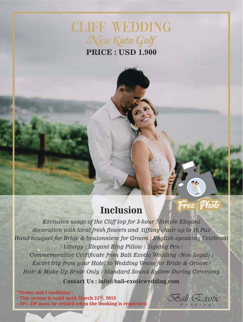new kuta golf wedding package